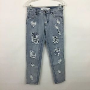 Brandy Melville distressed ankle jeans